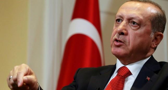 President Recep Tayyip Erdoğan speaks during an interview in New York City. (REUTERS Photo)