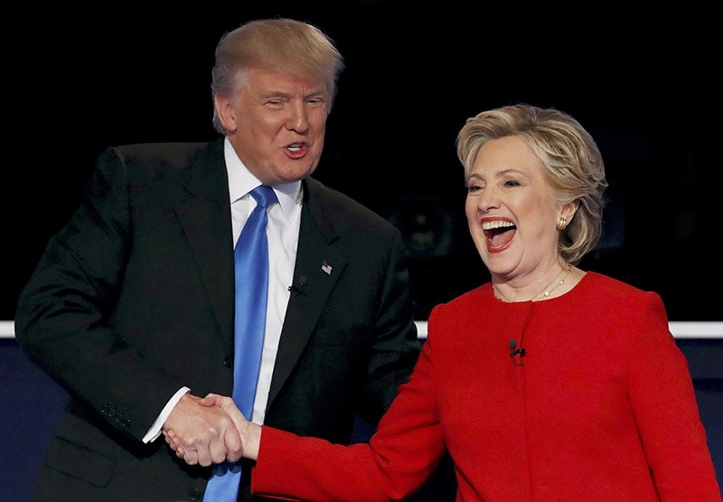 Donald Trump shakes hands with Hillary Clinton at the conclusion of their first presidential debate at Hofstra University in Hempstead, New York, U.S., September 26, 2016. (Reuters Photo)