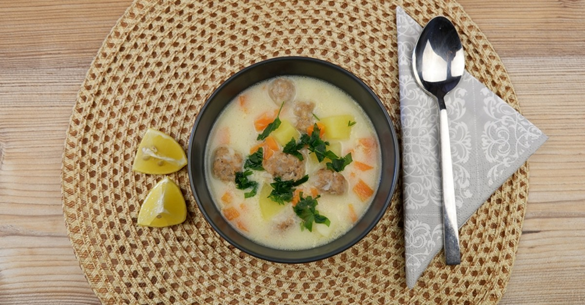 Turkish sour meatball soup is a delicious healthy comfort food. (Photo by Ayla Cou015fkun)