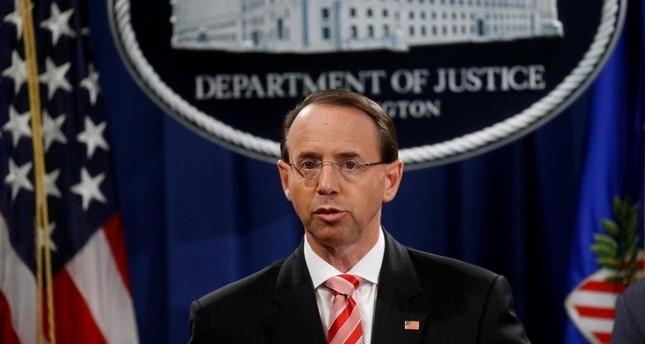Deputy Attorney General Rod Rosenstein (Reuters Photo)
