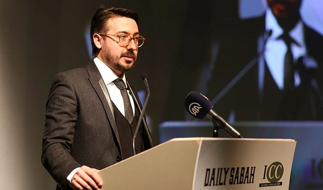 Daily Sabah Editor-in-Chief Serdar Karagöz speaks at the joint event by Daily Sabah and Istanbul Consular Corps in Istanbul, Turkey, on March 5, 2018. (Daily Sabah Photo)