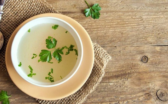 Bone broth soup is a good source of collagen. File Photo