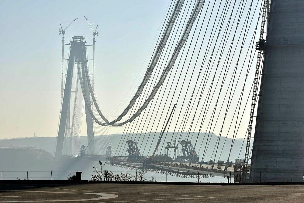 The Yavuz Sultan Selim Bridge in Istanbul, Turkey. (AA Photo)