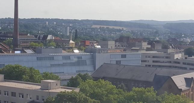 Öcalan-Graffiti an Kasseler Universitätsgebäude