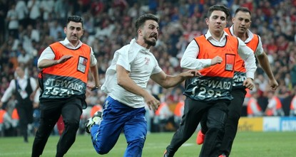 Pitch invasion during Super Cup costs Youtuber tens of thousands of subscribers, Instagram account