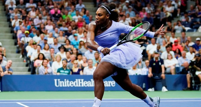 Serena Williams of the US runs to hit a return during Day 3 of the 2018 U.S. Open Women's Singles match in New York on August 29, 2018. (AFP Photo)