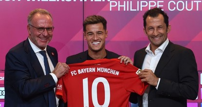Bayern completes loan signing of Coutinho from Barcelona