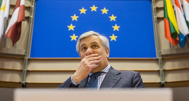 President of the European Parliament Antonio Tajani during a special Plenary session (EPA Photo)