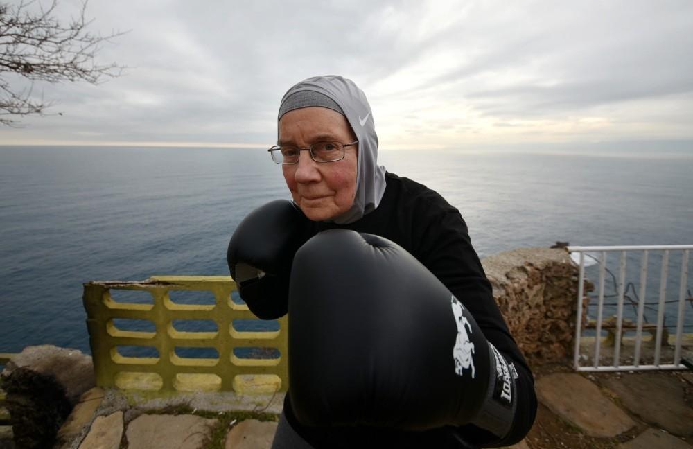 Nancy Vanderstraeten is fighting back against Parkinson's three days a week in the boxing ring.