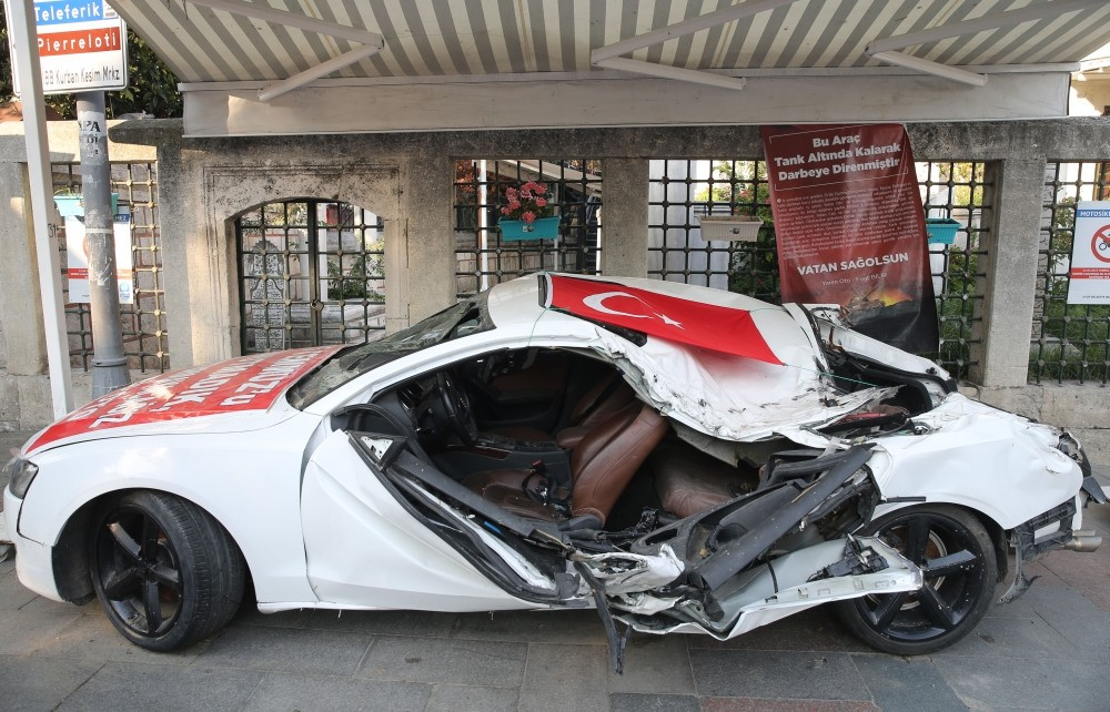 Fuat Bilir decided to put his car on display to remind people of the deadly coup.