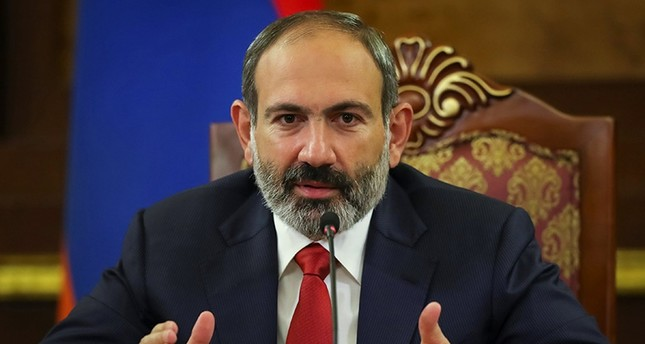 Armenian acting Prime Minister Nikol Pashinian speaks at news briefing in Yerevan, Armenia Dec. 10, 2018. (Reuters Photo)