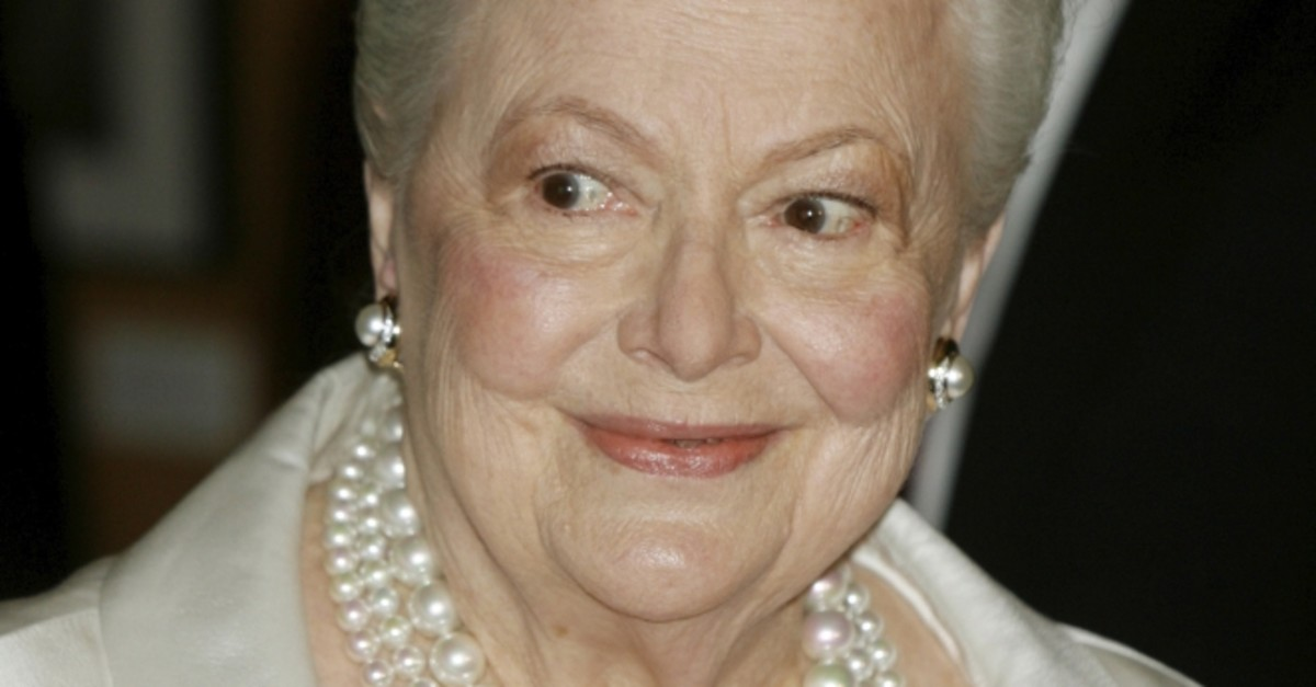 Two-time Academy Award winner Actress Olivia de Havilland, 89, at the u2018Academy Tribute to Olivia de Havilland' at the Academy of Motion Picture Arts & Sciences, Beverly Hills, June 15, 2006.