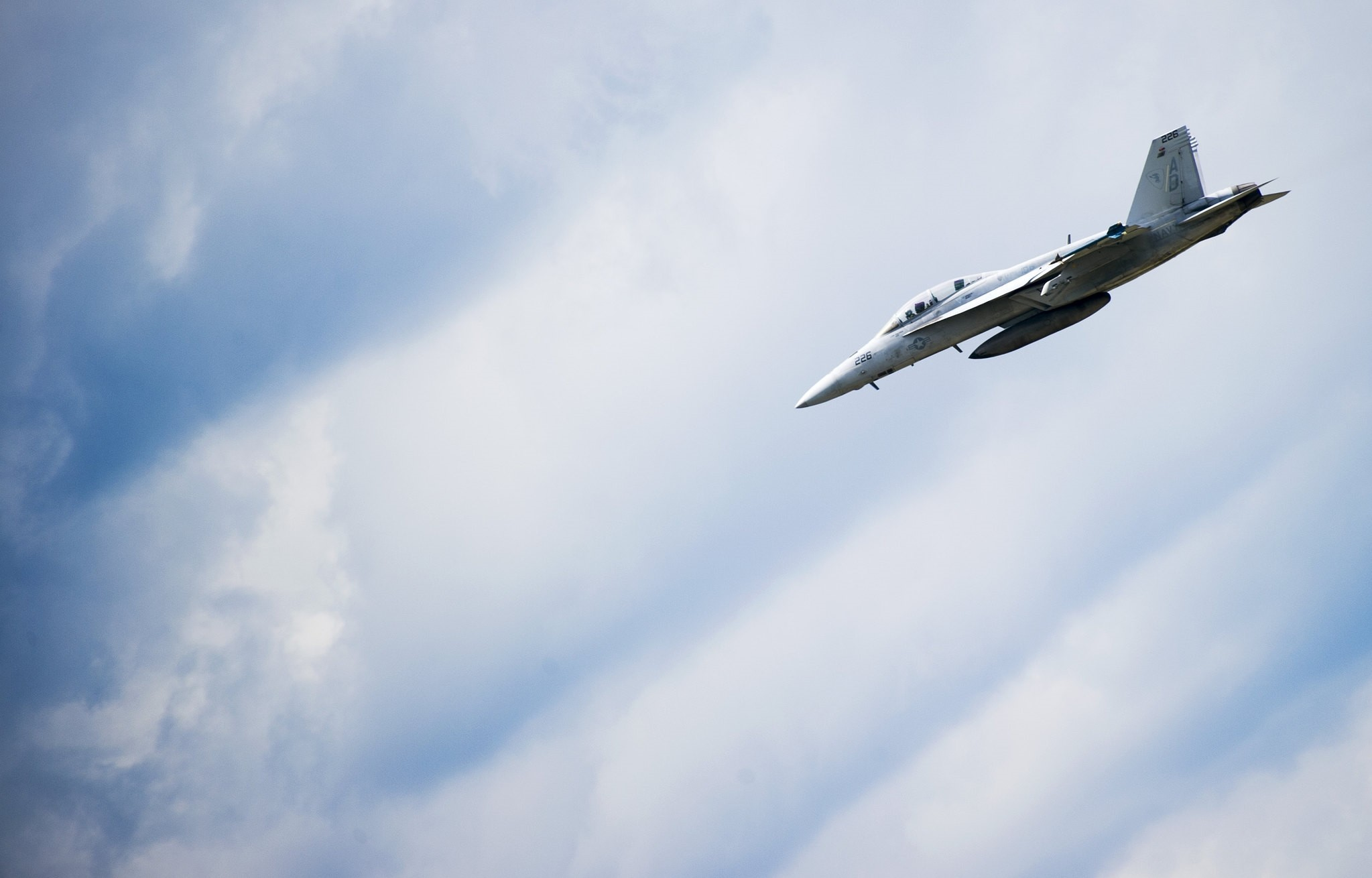 In this file photo taken on May 08, 2013 An F/A-18 flies over Naval Air Station Oceana in Norfolk, Virginia. (AFP Photo)
