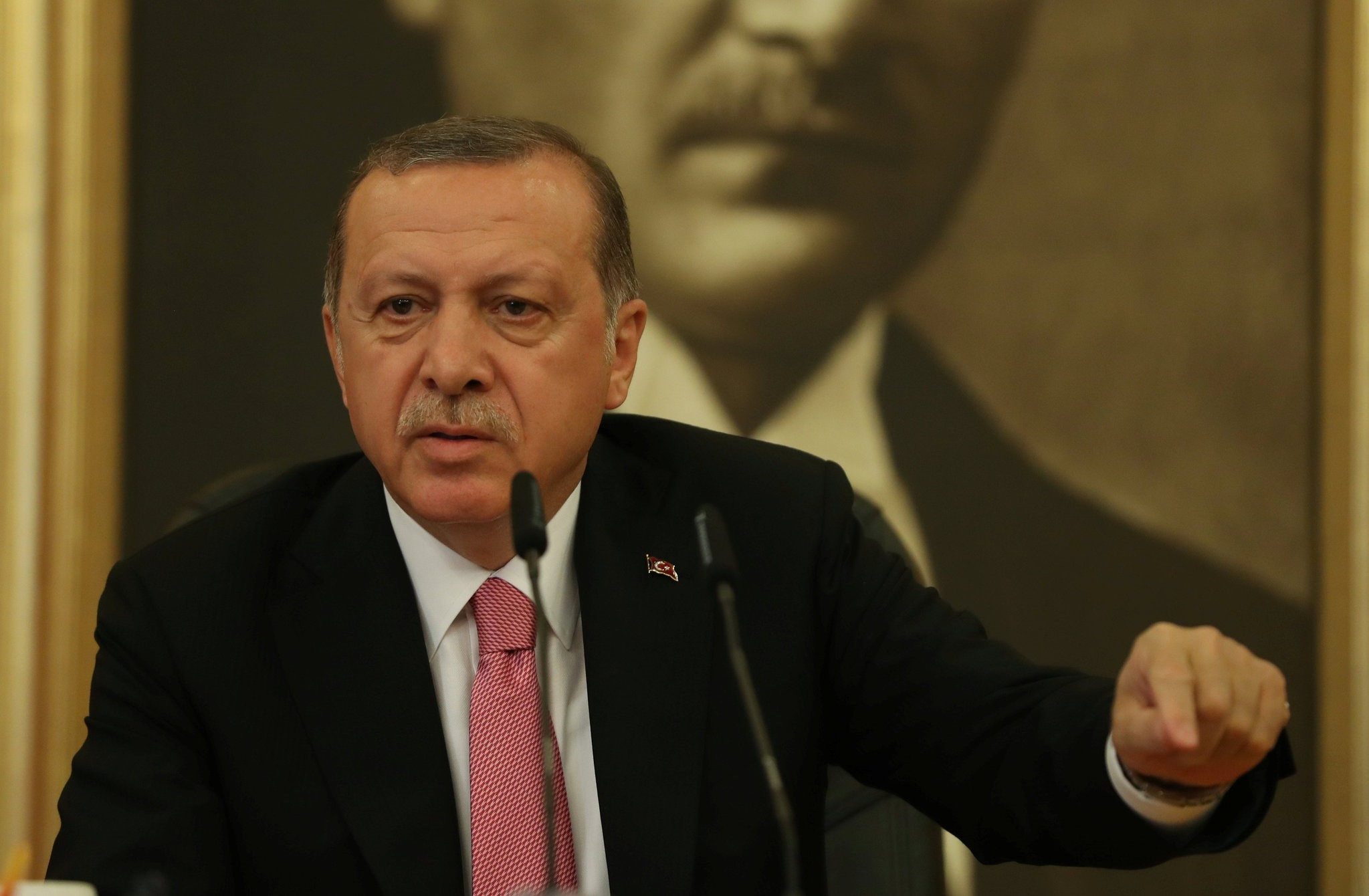 President Recep Tayyip Erdou011fan said on Friday that the recent legal decisions made by the U.S. prosecutors against a former economy minister and his security personnel are politically motivated.