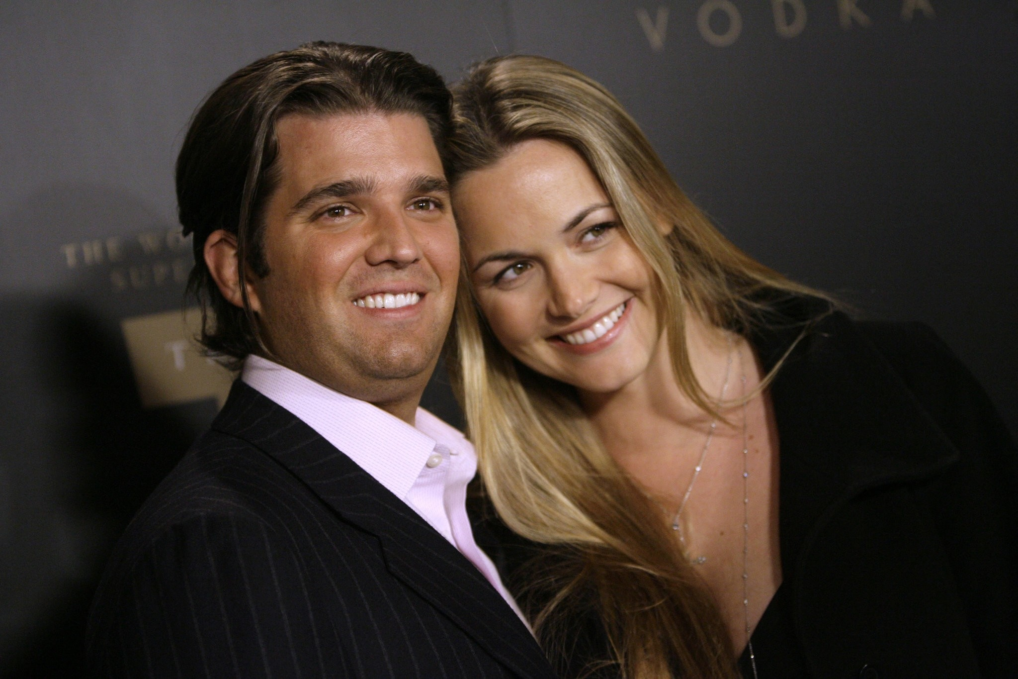 In a Jan. 17, 2007 file photo, Donald Trump Jr., left, and his wife Vanessa arrive for the Trump Vodka launch party by Drinks America hosted by Donald J. Trump at Les Deux in the Hollywood section of Los Angeles. (AP Photo)