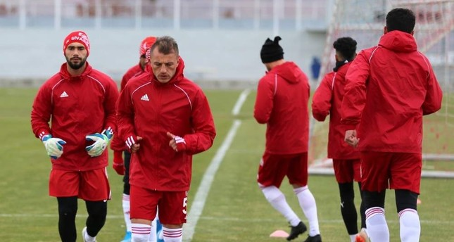 Sivasspor players during training, Sivas, Nov. 27, 2019. (AA Photo)