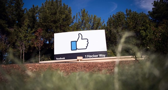 In this file photo taken on November 4, 2016, the Facebook sign and logo is seen in Menlo Park, California. (AFP Photo)
