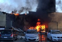 An Australian pilot and four American tourists on a golfing vacation were killed when a light plane crashed in flames into a shopping mall on Tuesday shortly after takeoff in the Australian city of...