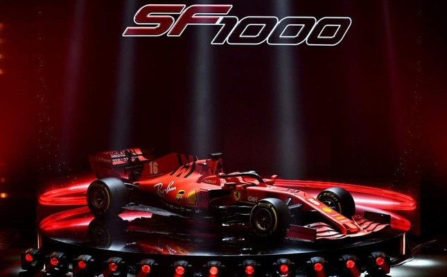 Ferrari unveiled the new Formula One race car SF1000 during the presentation in Italy, Feb. 11, 2020. Reuters Photo