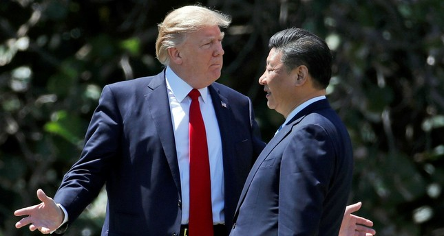 U.S. President Donald Trump (L) and Chinese President Xi Jinping at Mar-a-Lago, Florida, April 7.