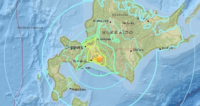 Image result for japan hokkaido island earthquake