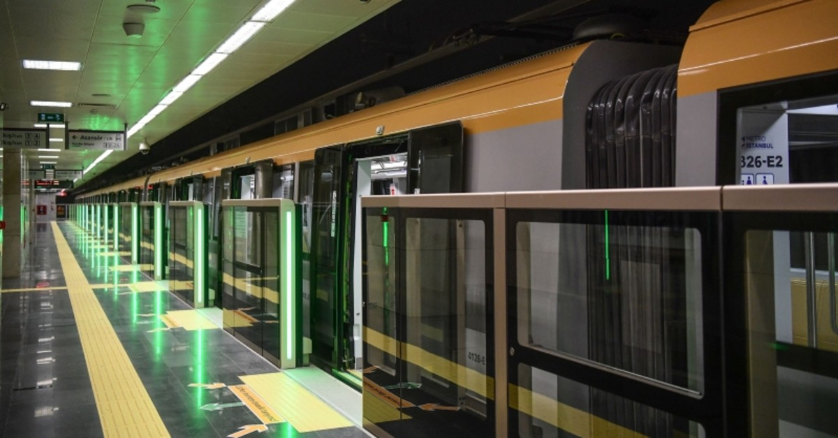 An automated metro train is parked at the Uskudar metro station, ahead of the inauguration ceremony of Turkey's first automated urban metro line on the Asian side of Istanbul, on December 15, 2017 in Istanbul. (AFP Photo)