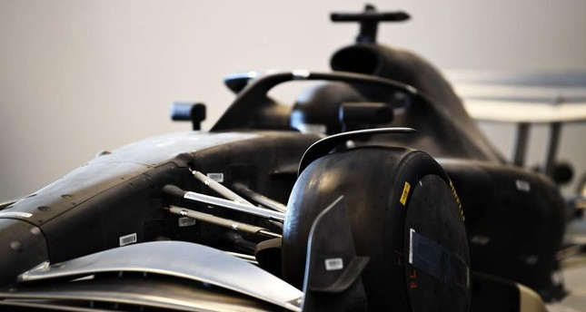 A mockup of a car is revealed in a press conference to announce the rules for the 2021 Formula One season during previews ahead of the F1 Grand Prix of USA at Circuit of The Americas on Oct. 31, 2019 in Austin, Texas. AFP Photo