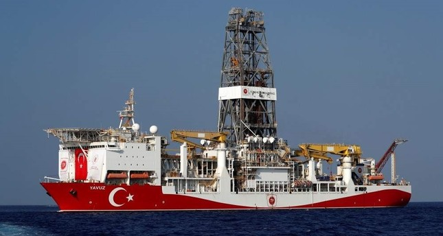 Turkish drilling vessel Yavuz is currently carrying out hydrocarbon exploration activities in the Eastern Mediterranean off Cyprus, Aug. 6, 2019. REUTERS
