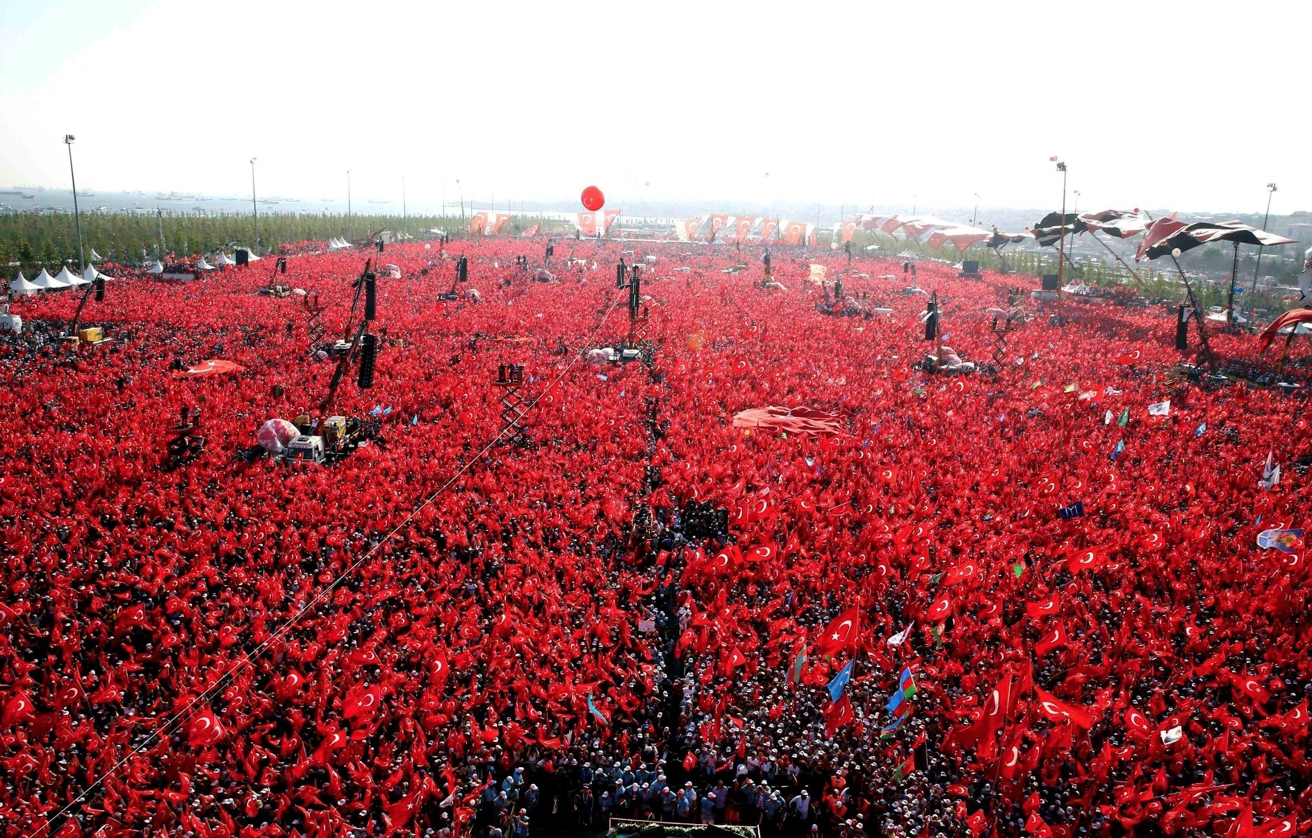 Last yearu2019s democracy watch protests after the failed July 15 coup attempt culminated in a million-strong rally in Istanbulu2019s Yenikapu0131 on Aug. 7, 2016.