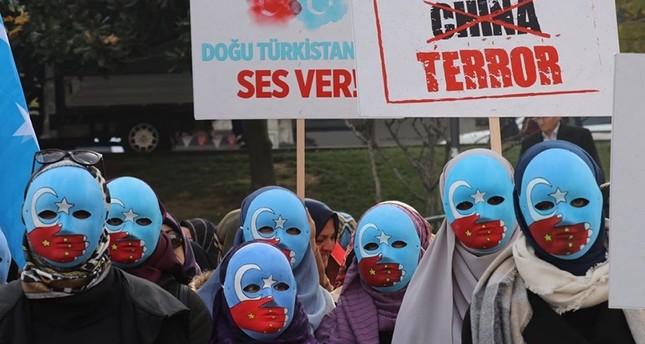 مظاهرات في عدة مدن تركية للتنديد بانتهاكات الصين ضد مسلمي الأويغور