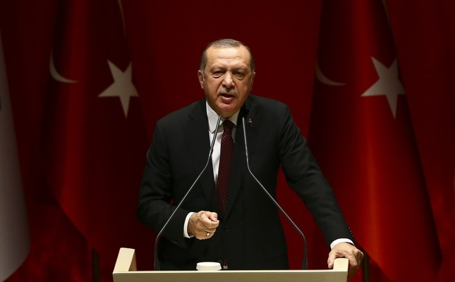 Ensuring that the operation will continue until all targets are achieved, President Erdoğan said that Manbij will also be cleared of terrorists, Ankara, Jan. 26. AA Photo