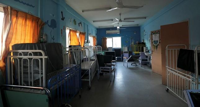 The children's section of the Beit Hanun Hospital lies empty, Gaza Strip, Jan. 29, 2018.