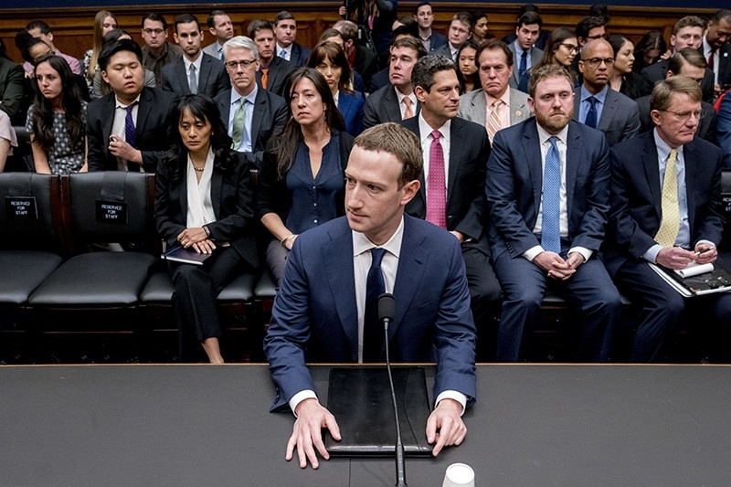 Facebook CEO Mark Zuckerberg arrives to testify before a House Energy and Commerce hearing on Capitol Hill in Washington, Wednesday, April 11, 2018. (AP Photo)