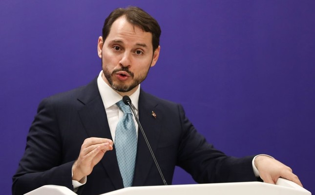 Treasury and Finance Minister Berat Albayrak speaks during a joint press conference with other ministers after the fifth meeting of the Reform Action Group in Ankara, yesterday.