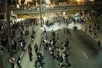 Rio police fire tear-gas during Brazil budget plan protest