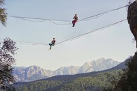 Turkish Highline Carnival: Soaring in the sky in Geyikbayırı