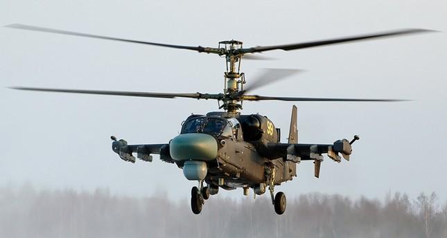 المروحية كا -52 التي تعرف باسم التمساح (من الأرشيف)