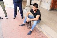 الشاب العراقي محمد باسم حامد السامرائي (وكالة الأناضول للأنباء)