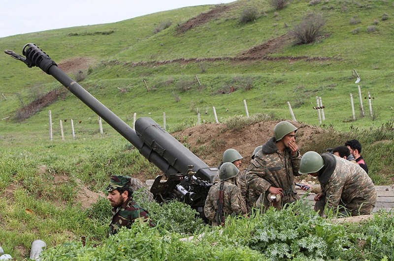 Armenian militias use heavy weapons to attack Azerbaijani military units in the disputed Nagorno-Karabakh region. (File Photo)