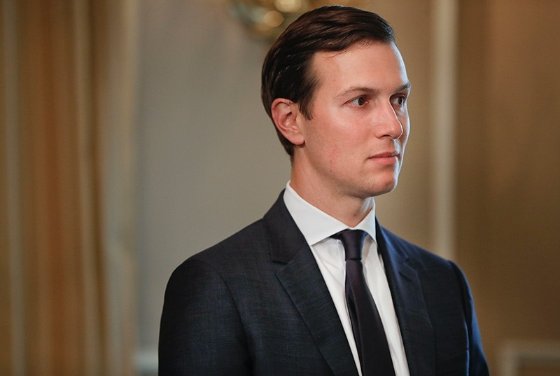 In this Friday, Aug. 11, 2017 file photo, White House senior adviser Jared Kushner listens as President Donald Trump answer questions regarding the ongoing situation in North Korea, at Trump National Golf Club in Bedminster, N.J (AP Photo)