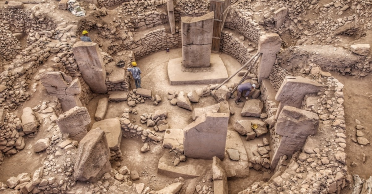 The ancient site of Gu00f6beklitepe in southeastern Turkey's u015eanlu0131urfa (Sabah Photo)