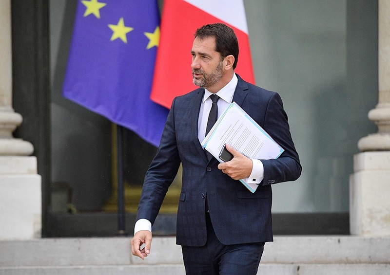 French Junior Minister for the Relations with Parliament and Government Spokesperson Christophe Castaner leaves the Elysee palace in Paris on July 19, 2017 (AFP Photo