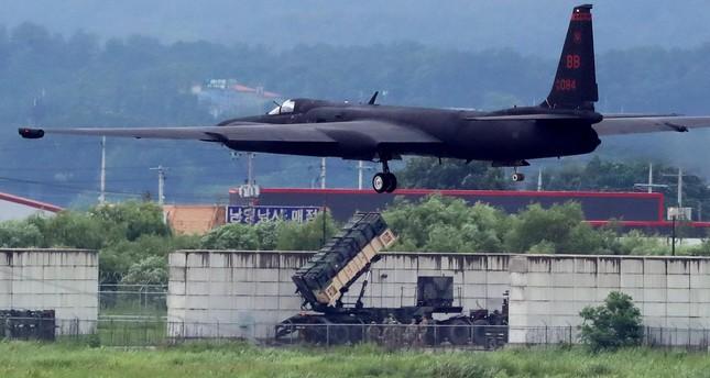 A U.S. Air Force U-2 Dragon Lady takes part in a drill at Osan Air Base in Pyeongtaek, South Korea, August 21, 2017. (Reuters Photo)