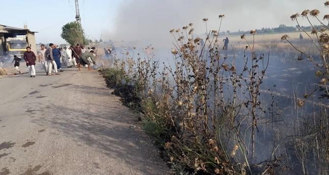 الحرائق تلتهم الأراضي الزراعية شرقي سوريا والأهالي يتهمون ي ب ك بافتعالها