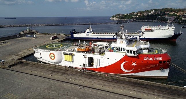 Turkey's seismic exploration vessel, MTA Oruç Reis, which was built by Turkish engineers at a local shipyard in Istanbul in June, is undertaking work in the Black Sea.