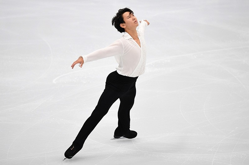 In this file photo taken on October 20, 2017 Kazakhstan's Denis Ten performs his routine in the men's short program at the Rostelecom Cup 2017 ISU Grand Prix of Figure Skating in Moscow on Oct. 20, 2017. (AFP Photo)