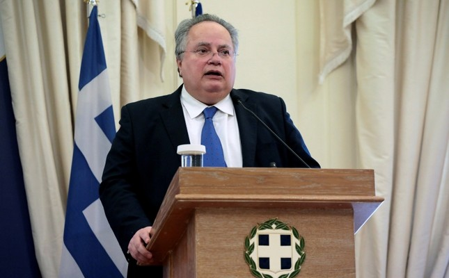 Greek Foreign Minister Nikos Kotzias addresses journalists during a joint press conference with his newly-appointed Greek Cypriot counterpart Nikos Christodoulides not pictured at the Foreign Ministry in Athens, March 5, 2018. Reuters Photo