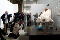 French artist Abraham Poincheval, who famously spent a week inside a rock and two weeks inside a bear sculpture, has succeeded in hatching chicken eggs after incubating them for some three...