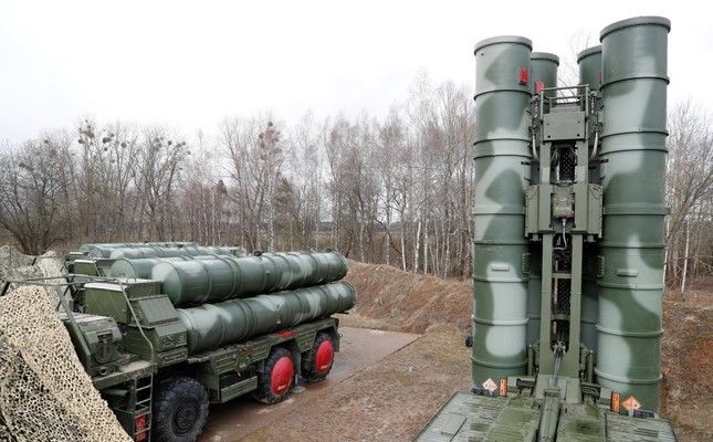 A view shows a new S-400 Triumph surface-to-air missile system after its deployment at a military base outside the town of Gvardeysk near Kaliningrad,  March 11, 2019.