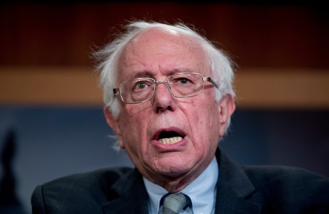 In this Jan. 30, 2019, file photo, Sen. Bernie Sanders, I-Vt., speaks at a news conference on Capitol Hill in Washington. (AP Photo)